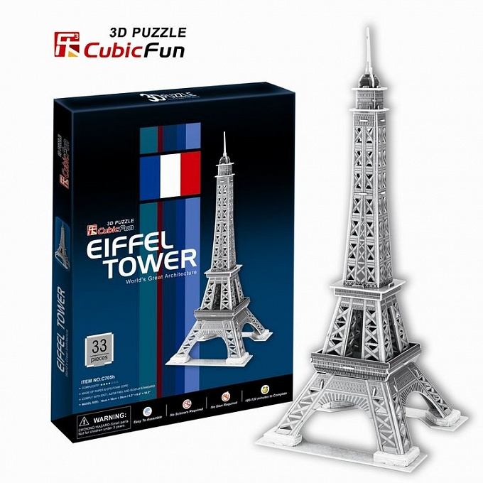 3D puzzles. Объёмные пазлы. Париж, Эйфелева башня 2Пазлы объёмные 3D<br>3D puzzles. Объёмные пазлы. Париж, Эйфелева башня 2<br>