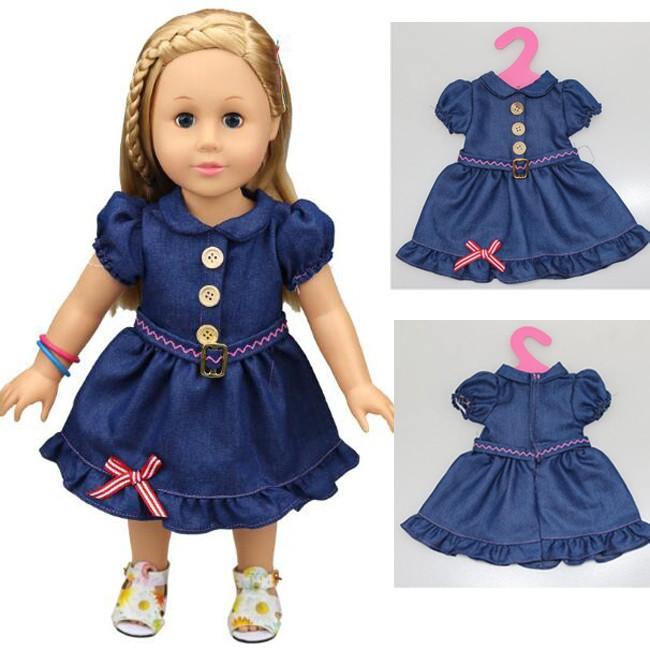 Одежда для кукол — платье синего цвета, JUNFA TOYS  - купить со скидкой