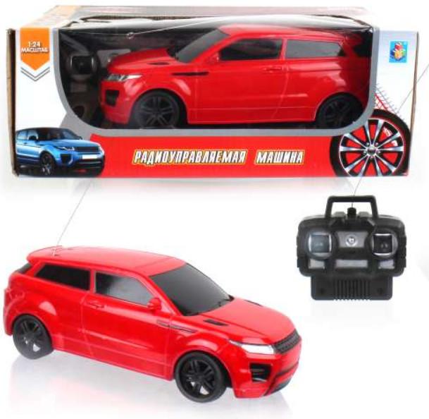 картинка Спортавто - Джип на радиоуправлении, 1:24, 20 см, свет, красная от магазина Bebikam.ru