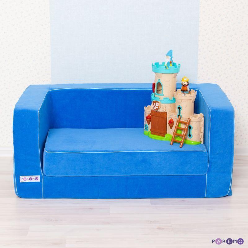 Раскладной игровой диванчик, голубойДетские кровати и мягкая мебель<br>Раскладной игровой диванчик, голубой<br>