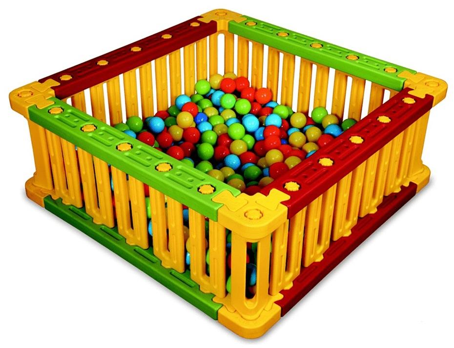 Купить Пластиковый квадратный манеж для шаров, высота 51 см, King Kids