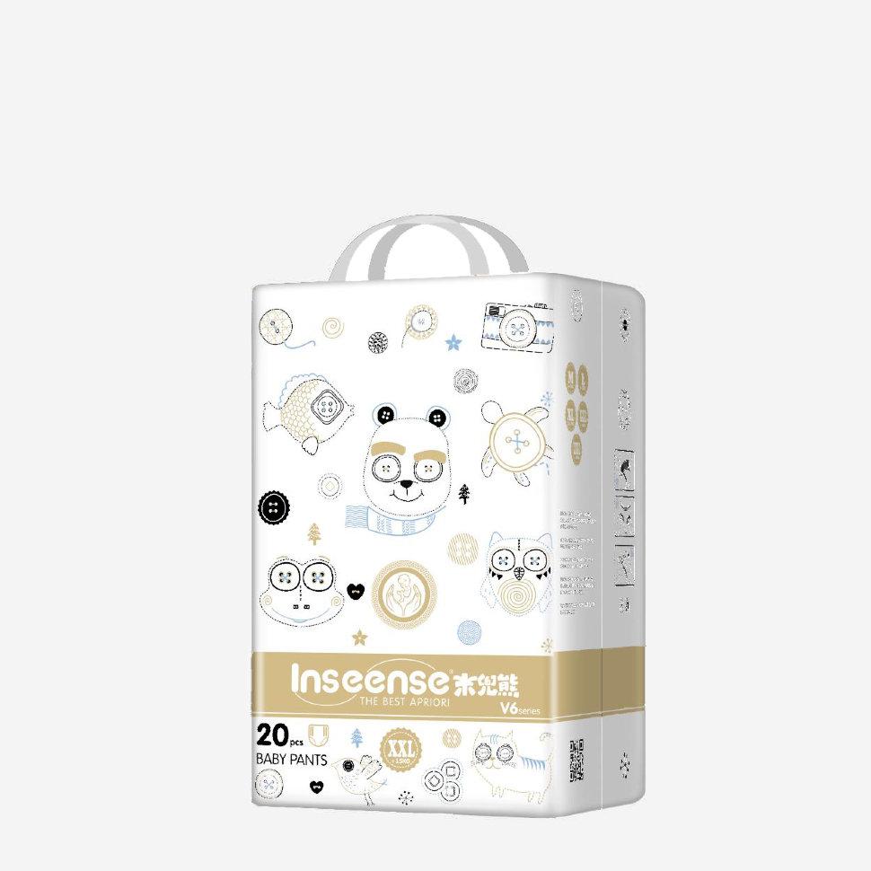 Трусики-подгузники Inseense V6 , 20 штук, XXL, золотая упаковка, супертонкие