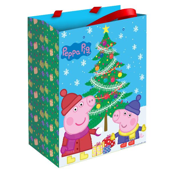Купить Пакет подарочный - Пеппа зимой, Росмэн