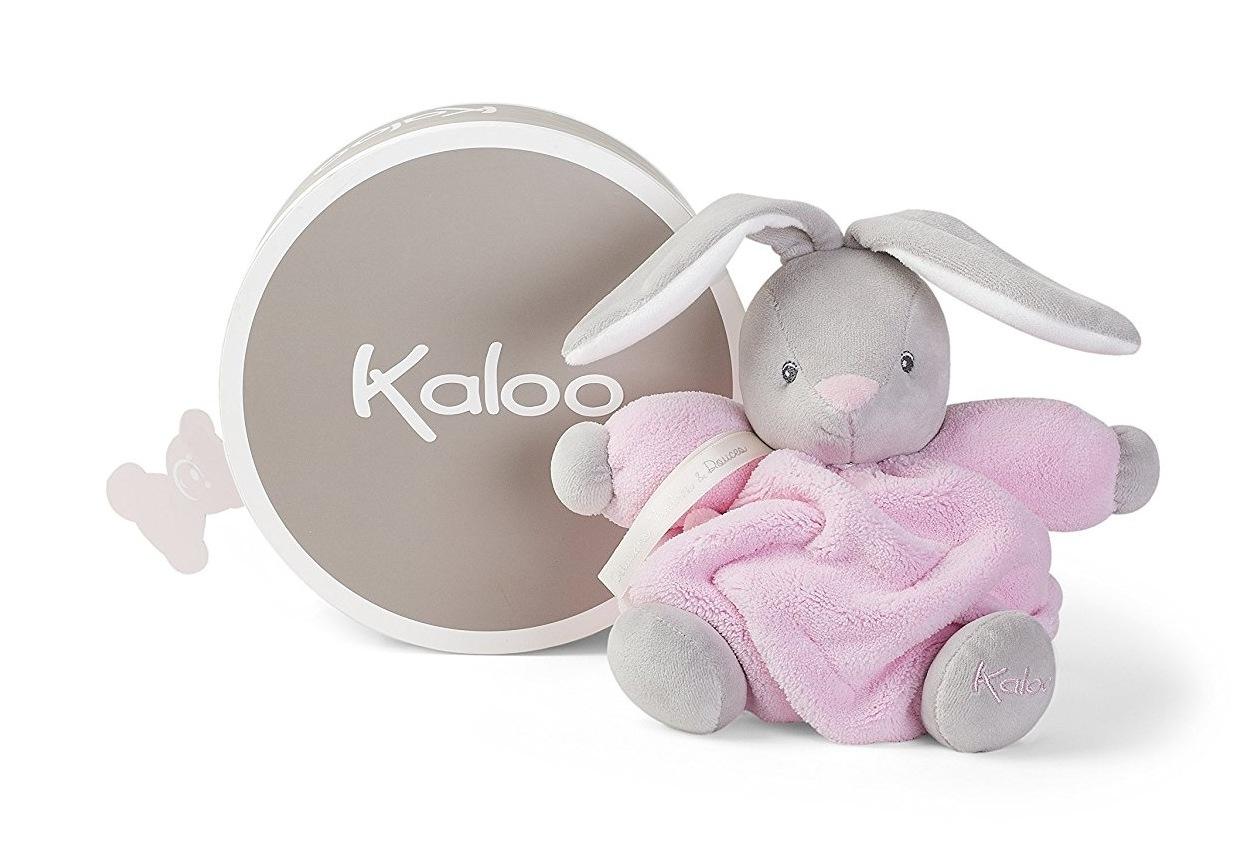 Купить Мягкая игрушка - Плюм - зайчик маленький розовый, 18 см, Kaloo