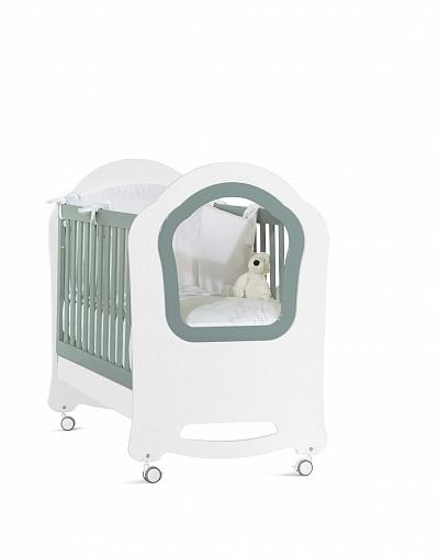 Кроватка детская из серии Princier, бело-сераяДетские кровати и мягкая мебель<br>Кроватка детская из серии Princier, бело-серая<br>