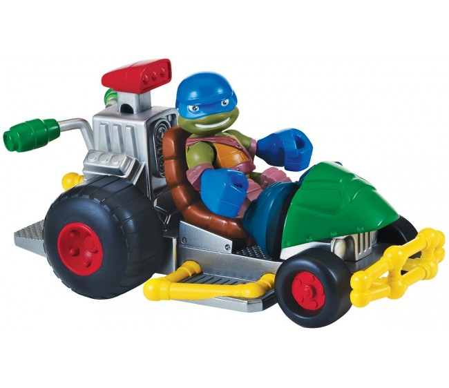 Купить Фигурка Черепашки-ниндзя Лео с багги, серия Half Shell Hero, Playmates