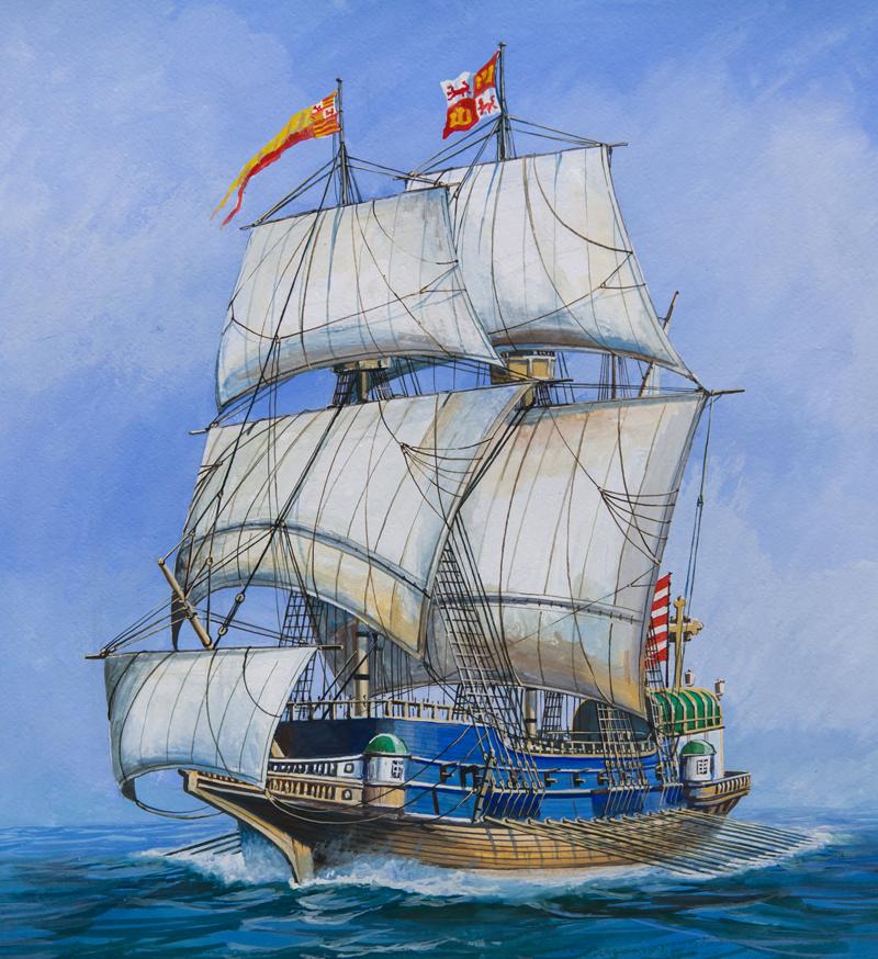 фото галеон корабль