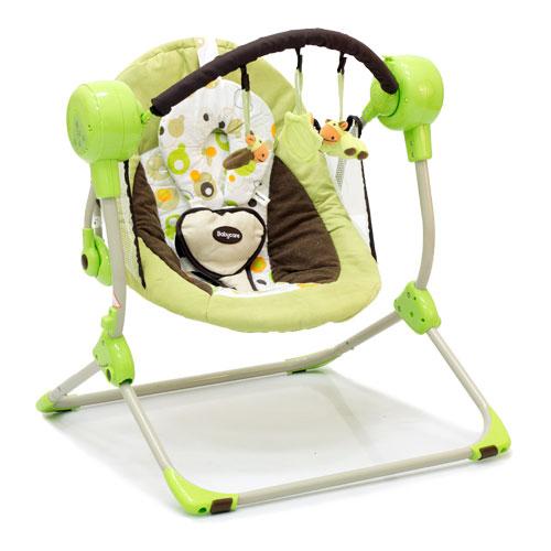 Кресло-качели Baby Care Balancelle с пультом ДУ, green от Toyway