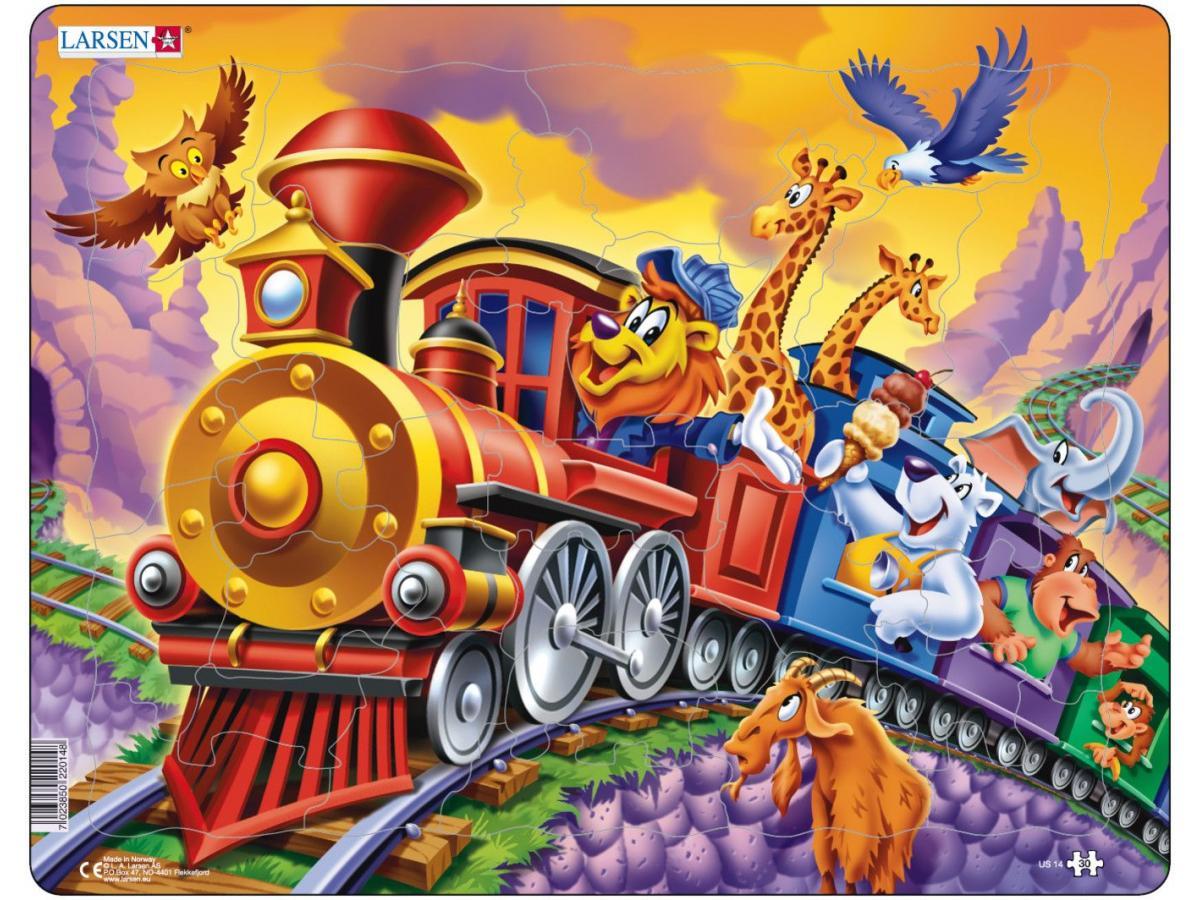Пазл - Поезд с цирком, 30 деталей
