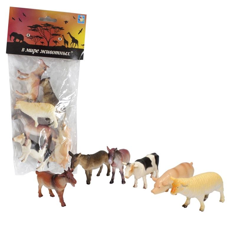 Купить Набор фигурок из серии В мире животных - Животные с фермы, 6 шт. по 8, 75 см., 1TOY