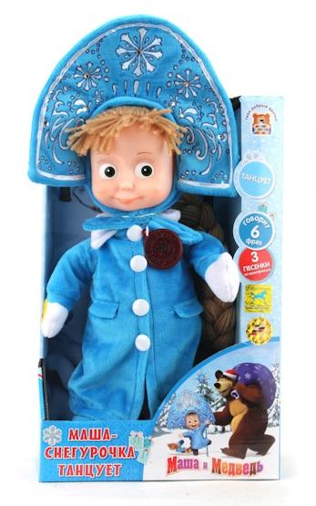 Мягкая игрушка Маша-Снегурочка из мультфильма «Маша и медведь», танцует - Маша и медведь игрушки, артикул: 131338