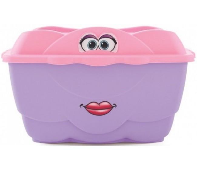Веселый контейнер Step 2, розовый 128 литровКорзины для игрушек<br>Веселый контейнер Step 2, розовый 128 литров<br>