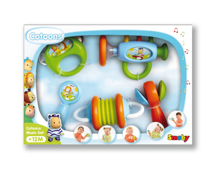 Набор погремушек в виде музыкальных инструментов, 5 штукДетские погремушки и подвесные игрушки на кроватку<br>Набор погремушек в виде музыкальных инструментов, 5 штук<br>