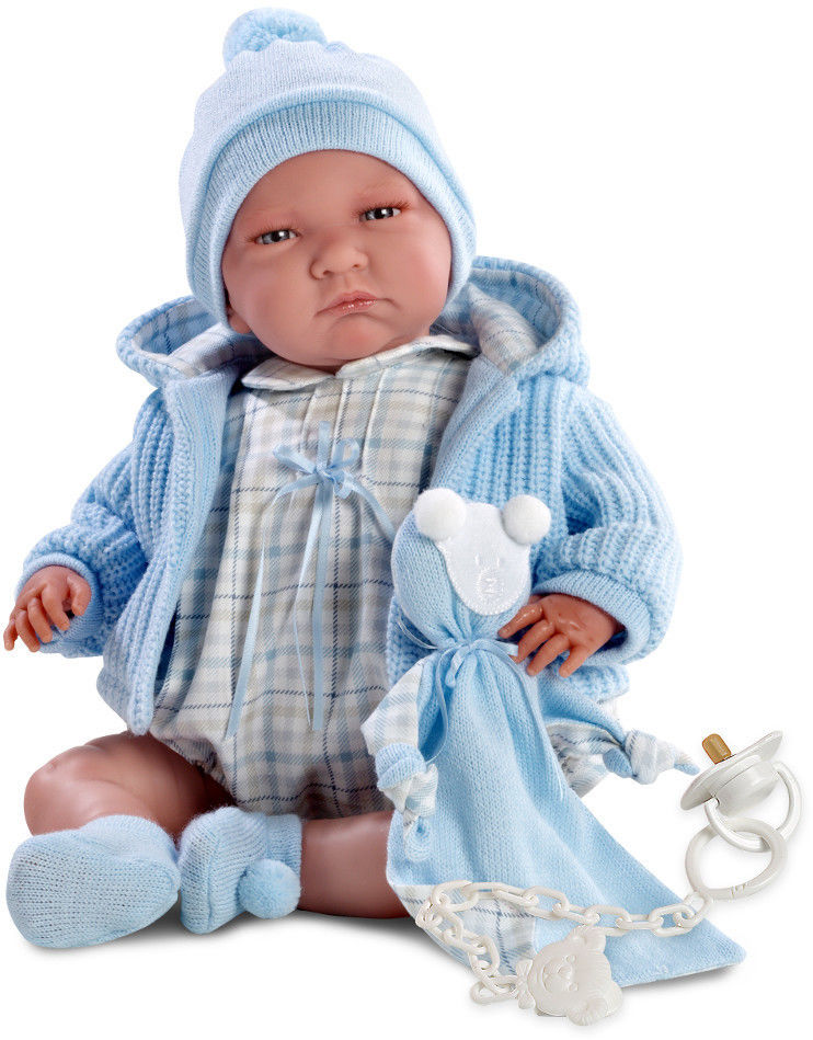 Кукла Лало с пустышкой, 40 см.Испанские куклы Llorens Juan, S.L.<br>Кукла Лало с пустышкой, 40 см.<br>