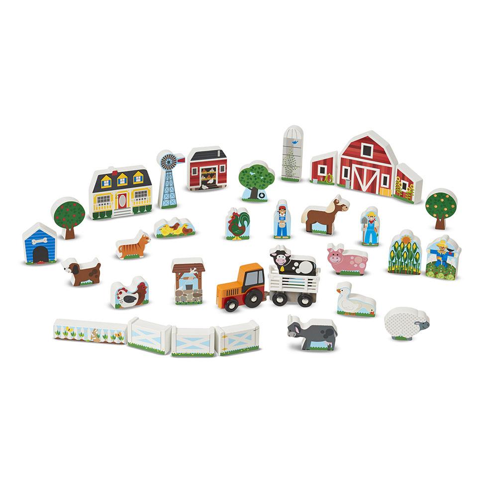 Набор из серии Деревянные игрушки - ФермаИгровые наборы Зоопарк, Ферма<br>Набор из серии Деревянные игрушки - Ферма<br>