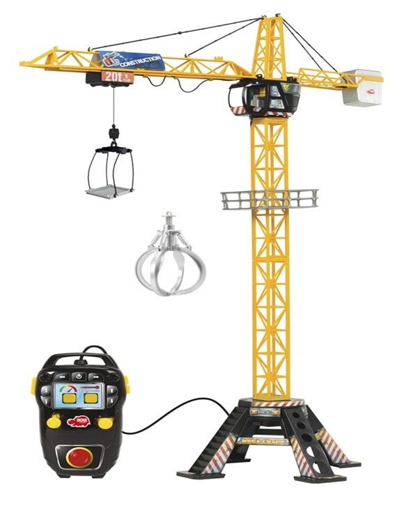 Подъемный кран с пультом управления и аксессуарами - Mega Crane, 120 смИгрушечные подъемные краны<br><br>