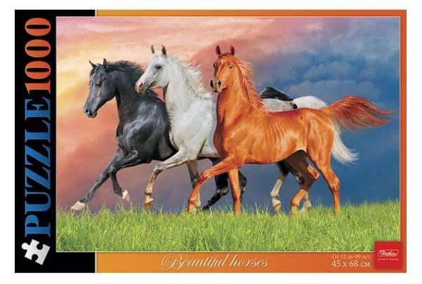 Пазл 1000 элементов – Красивые лошади