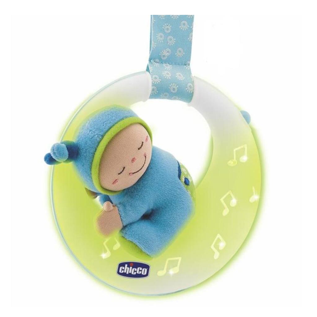 """Музыкальная подвеска """"Спокойной ночи, Луна"""", голубаяРазвивающие Игрушки Chicco<br>Музыкальная подвеска """"Спокойной ночи, Луна"""", голубая<br>"""