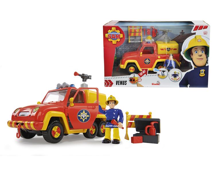 Машина со звуком и функцией воды из серии «Пожарный Сэм», 19 см и фигурка героя - Пожарный СЭМ, артикул: 131617