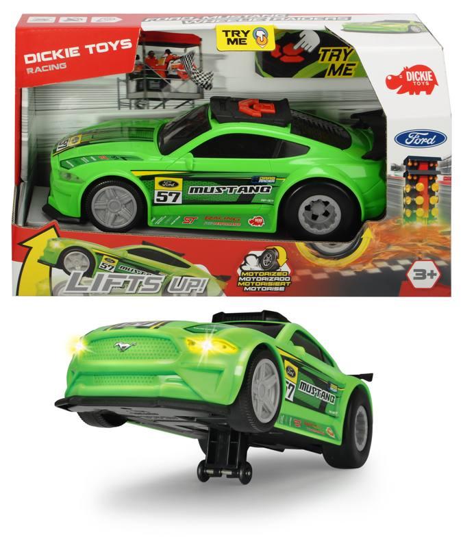 Купить Рейсинговый автомобиль Ford Mustang, моторизованный, свет и звук, 25, 5 см., Dickie Toys