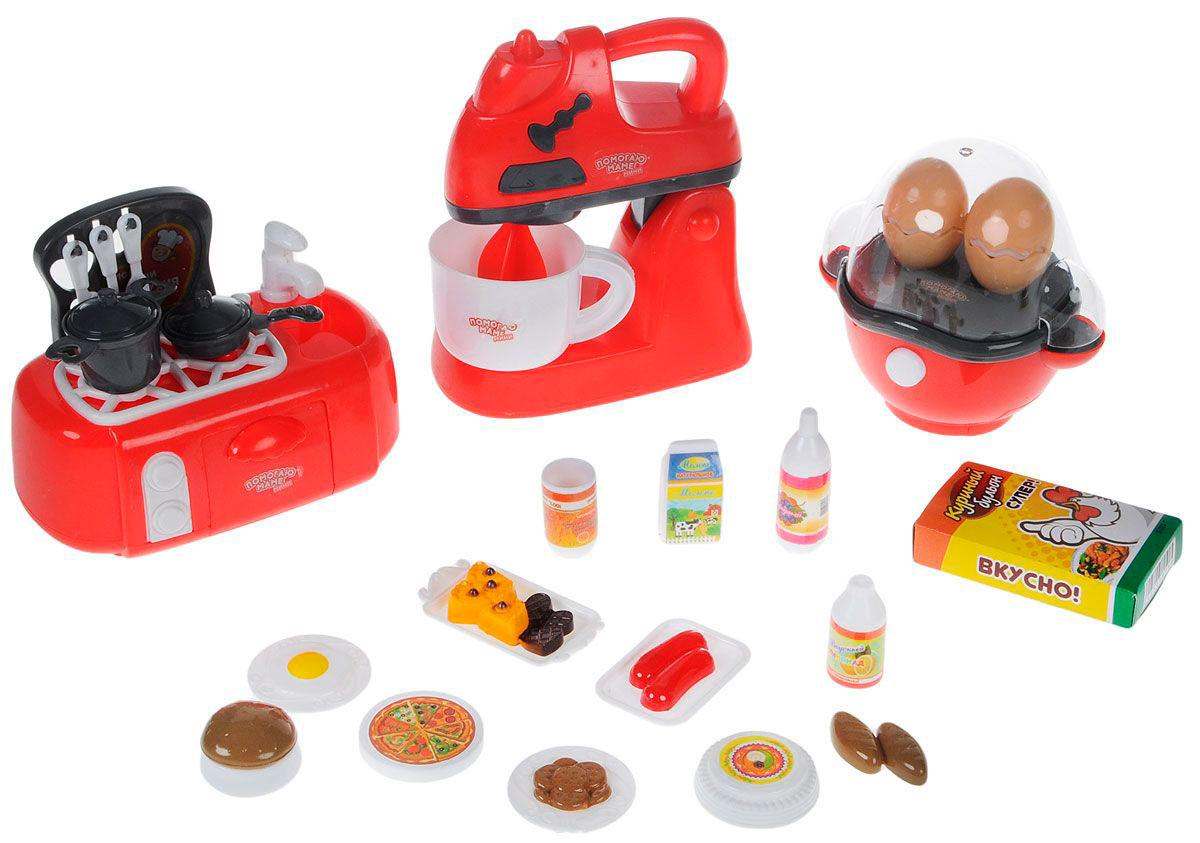 Набор кухонной техники с продуктами - Помогаю МамеАксессуары и техника для детской кухни<br>Набор кухонной техники с продуктами - Помогаю Маме<br>