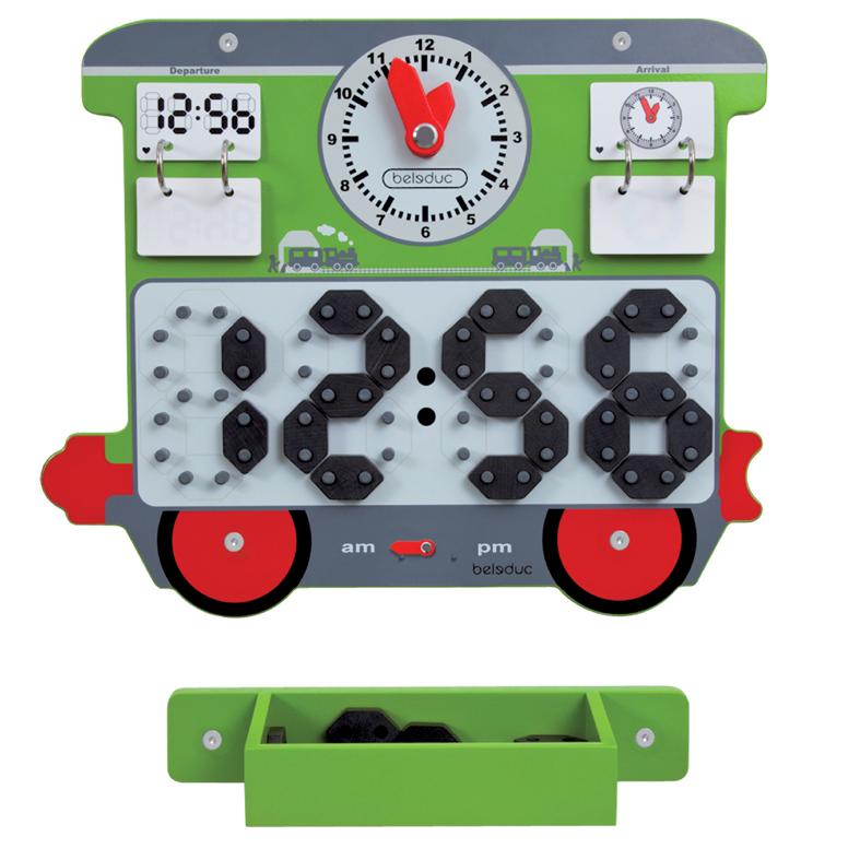 Настенный игровой элемент - ВремяРазвивающие центры<br>Настенный игровой элемент - Время<br>