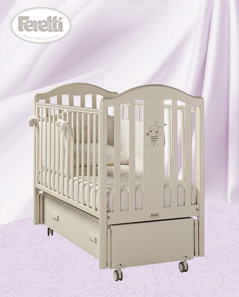 Кровать детская Ricordoswing AvorioДетские кровати и мягкая мебель<br>Кровать детская Ricordoswing Avorio<br>