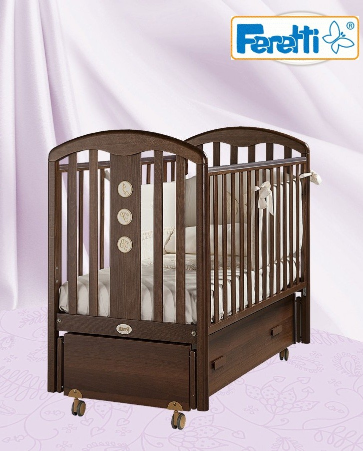 Кровать детская Fms Elegance NoceДетские кровати и мягкая мебель<br>Кровать детская Fms Elegance Noce<br>