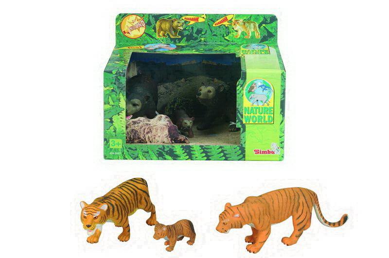 Игровой набор - Семейство тигров/медведей со звукомДикая природа (Wildlife)<br>Игровой набор - Семейство тигров/медведей со звуком<br>