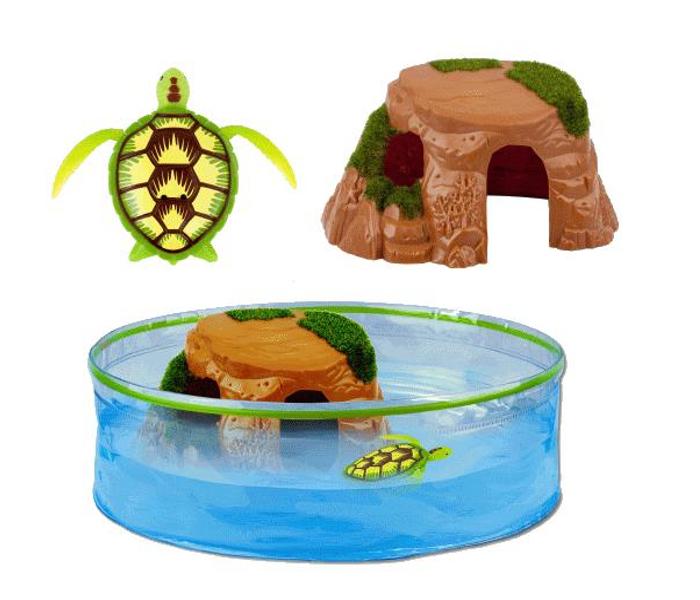 Большой набор - РобоЧерепашка с аквариумом и островомРобочерепашки<br>Большой набор - РобоЧерепашка с аквариумом и островом<br>
