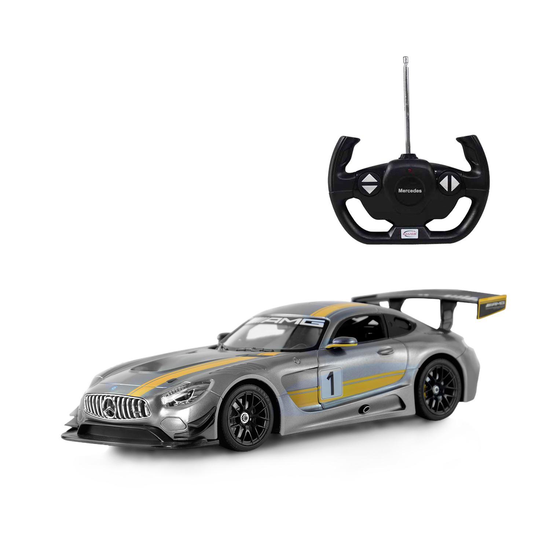 картинка Радиоуправляемая машина - Mercedes AMG GT3, цвет серый, 1:14, 27MHZ от магазина Bebikam.ru