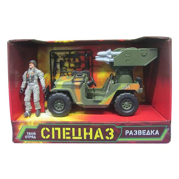 Набор военный «Спецназ» с машиной, фигуркой, оружиемВоенная техника<br>Набор военный «Спецназ» с машиной, фигуркой, оружием<br>