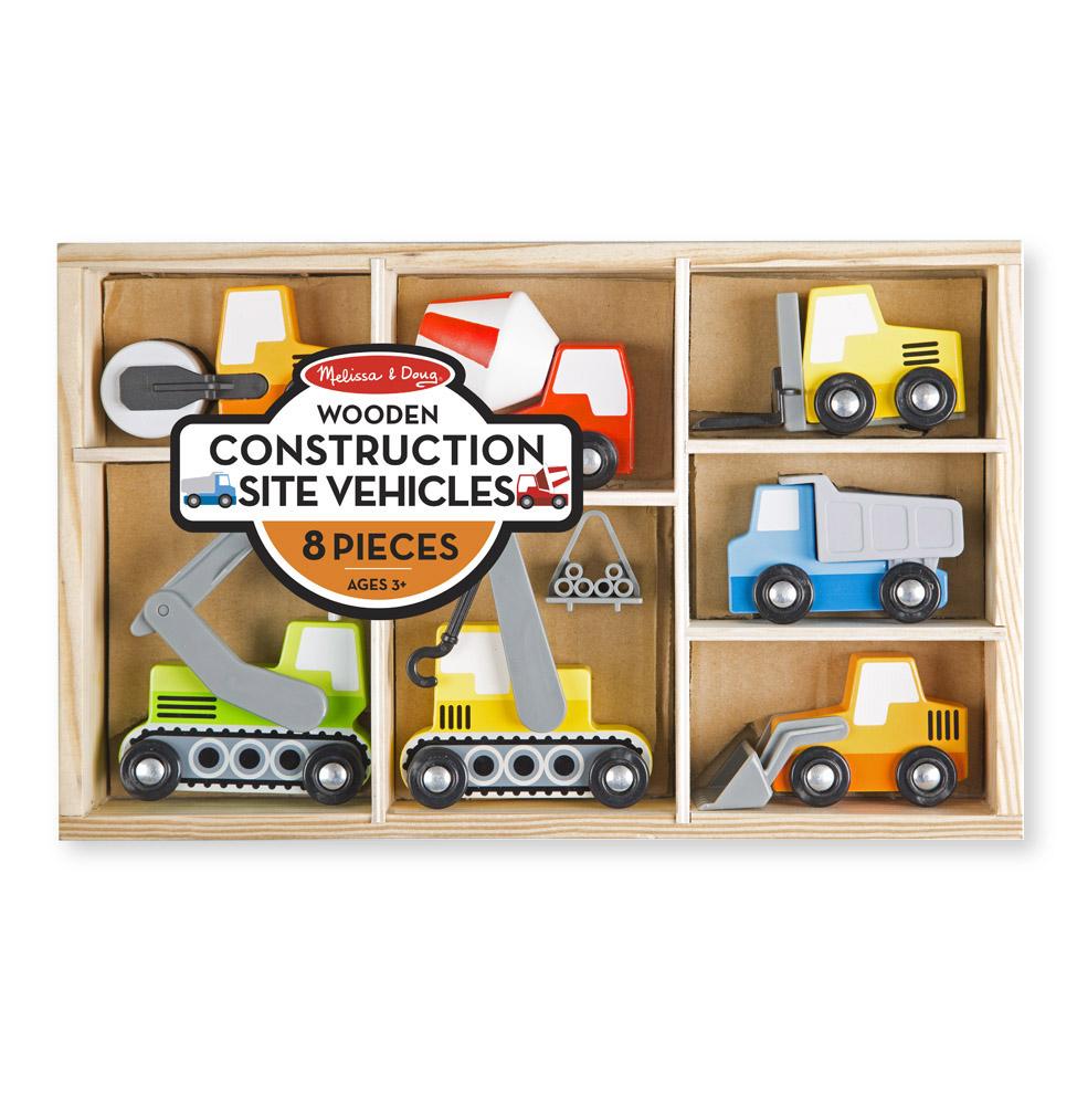 Деревянные игрушки - Набор строительных машинПаровозики и машинки<br>Деревянные игрушки - Набор строительных машин<br>