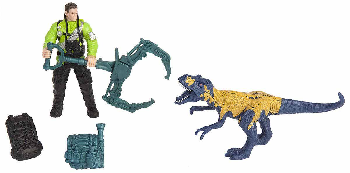 Набор - Динозавр Мегалозавр и ловец динозавровЖизнь динозавров (Prehistoric)<br>Набор - Динозавр Мегалозавр и ловец динозавров<br>