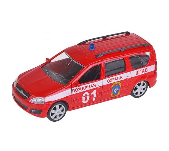 Металлическая машина - Lada Largus, пожарная охрана, 1:38LADA<br>Металлическая машина - Lada Largus, пожарная охрана, 1:38<br>