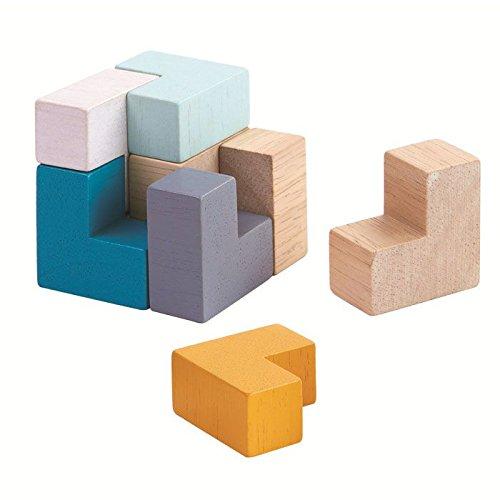 Купить Настольная игра деревянная - 3D пазл Куб, Plan Toys