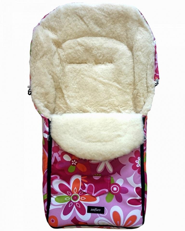 Спальный мешок в коляску №07 из серии North pole, дизайн – пестрые цветы - Прогулки и путешествия, артикул: 171088
