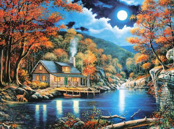 Купить Пазл Castorland 2000 деталей, Домик на озере
