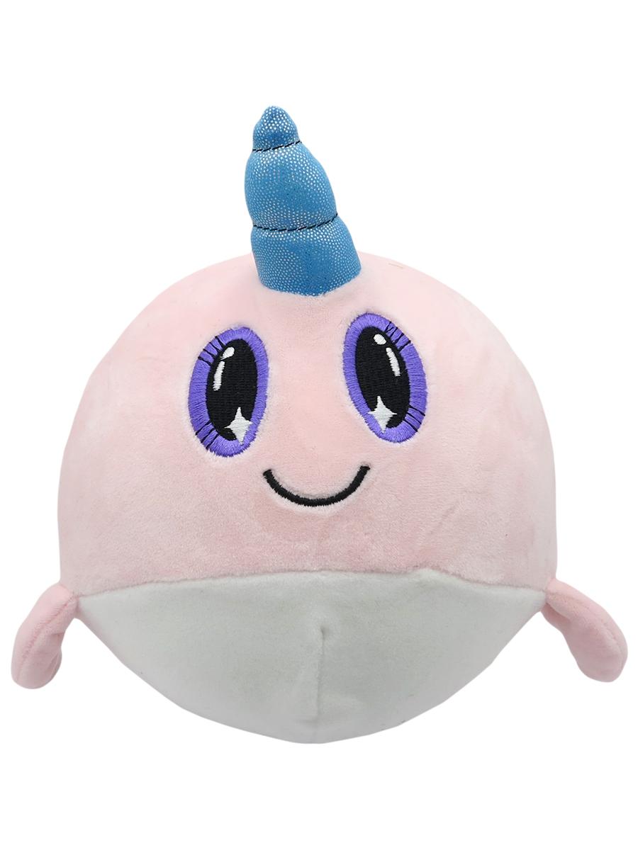 Мягкая игрушка-антистресс – Нарвал, розовая, 15 см