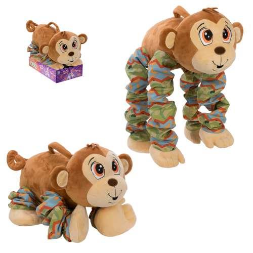 Купить Мягкая игрушка из серии Пружиножки – Обезьянка, звук, размер 20 х 36 х 23-58 см., 1TOY