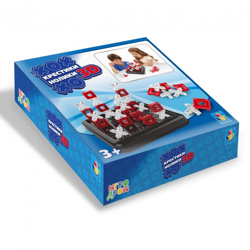 Купить Настольная игра - Крестики-нолики 3D, 1TOY
