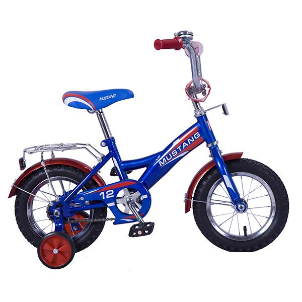 Детский велосипед – Mustang, 12, GW-тип, сине-красныйВелосипеды детские<br>Детский велосипед – Mustang, 12, GW-тип, сине-красный<br>