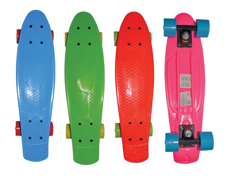 Скейт Navigator пластиковый, колеса пвх 57 х 42 мм., пластиковые траки, 4 цвета