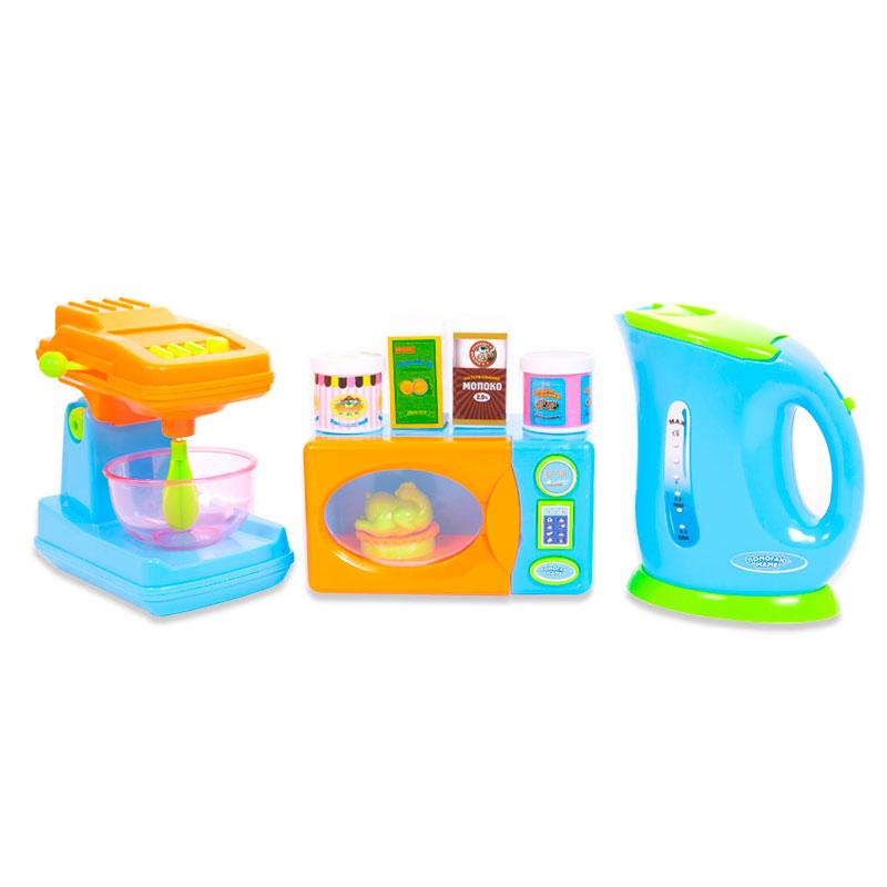 Помогаю Маме. Кухонная техника с продуктами, 10 предметовАксессуары и техника для детской кухни<br>Помогаю Маме. Кухонная техника с продуктами, 10 предметов<br>