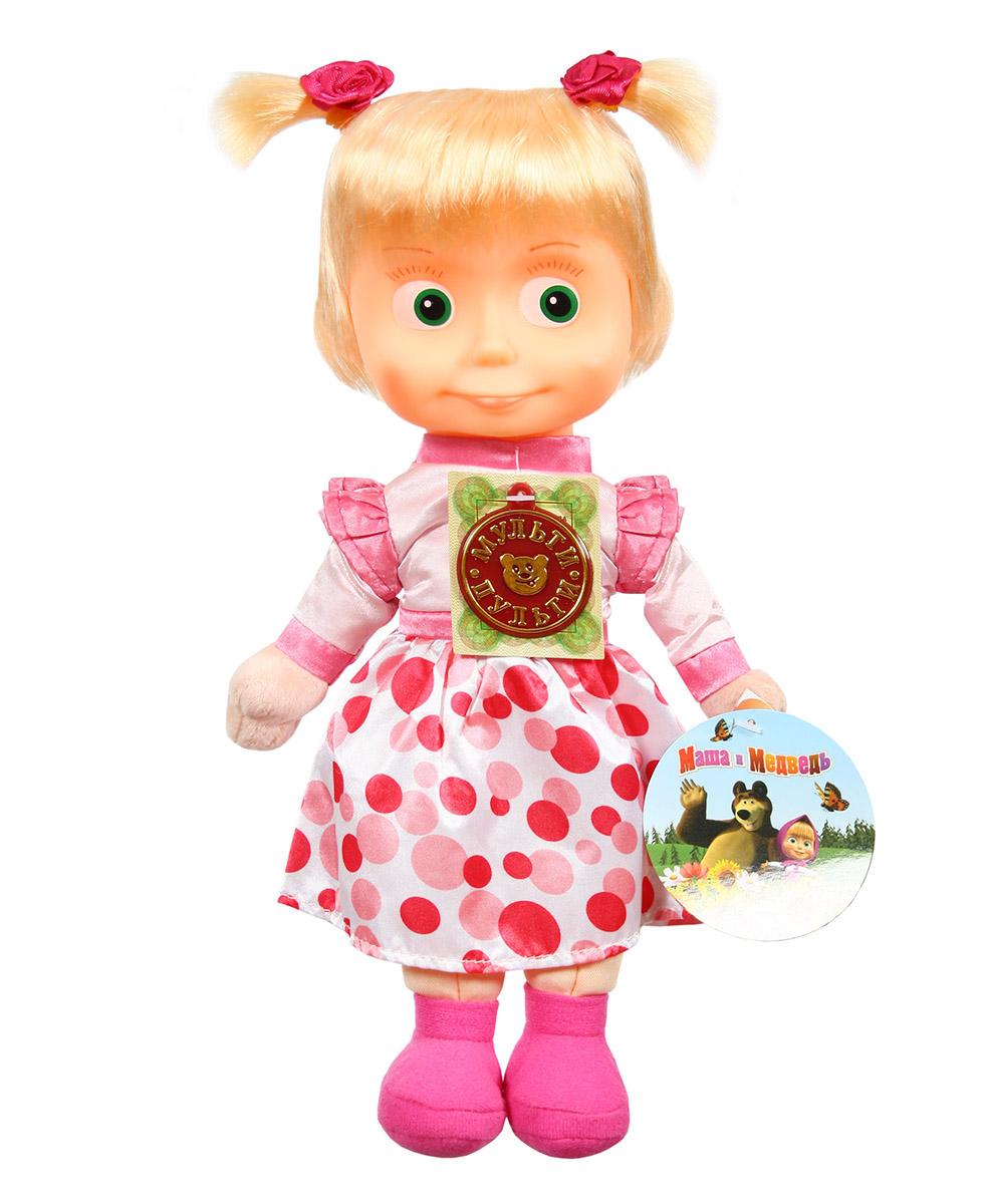 Купить Мягкая игрушка – Маша в нарядном платье из серии Маша и Медведь, 29 см., музыкальный чип, Мульти-Пульти