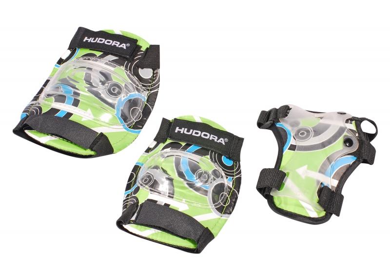 Купить Комплект защиты Green Style, размер M, цвет - green/зеленый, Hudora