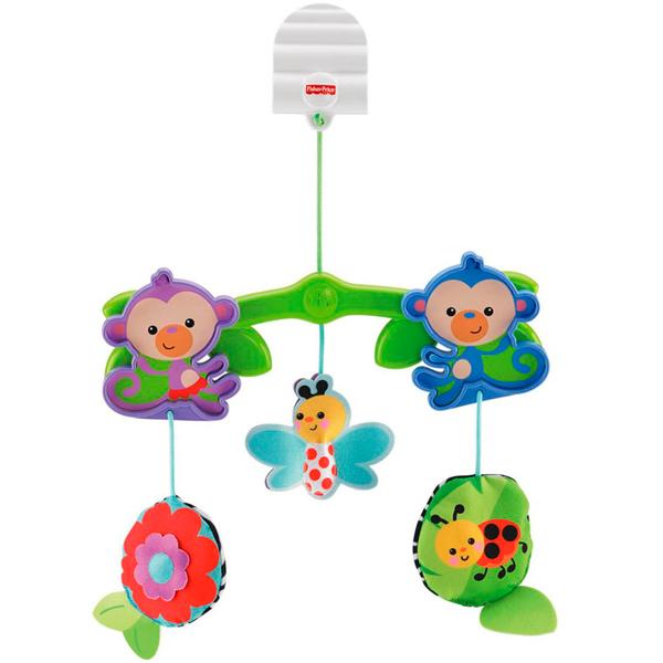 Мобиль для коляски - Веселые друзьяМобили и музыкальные карусели на кроватку, игрушки для сна<br>Мобиль для коляски - Веселые друзья<br>