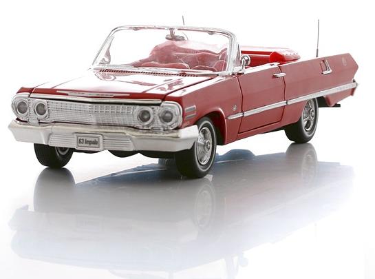 Модель машины Chevrolet Impala 1963, масштаб 1:24Chevrolet<br>Модель машины Chevrolet Impala 1963, масштаб 1:24<br>