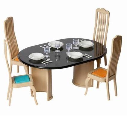 Игровой набор мебели для столовой серии КоллекцияКукольные домики<br>Игровой набор мебели для столовой серии Коллекция<br>