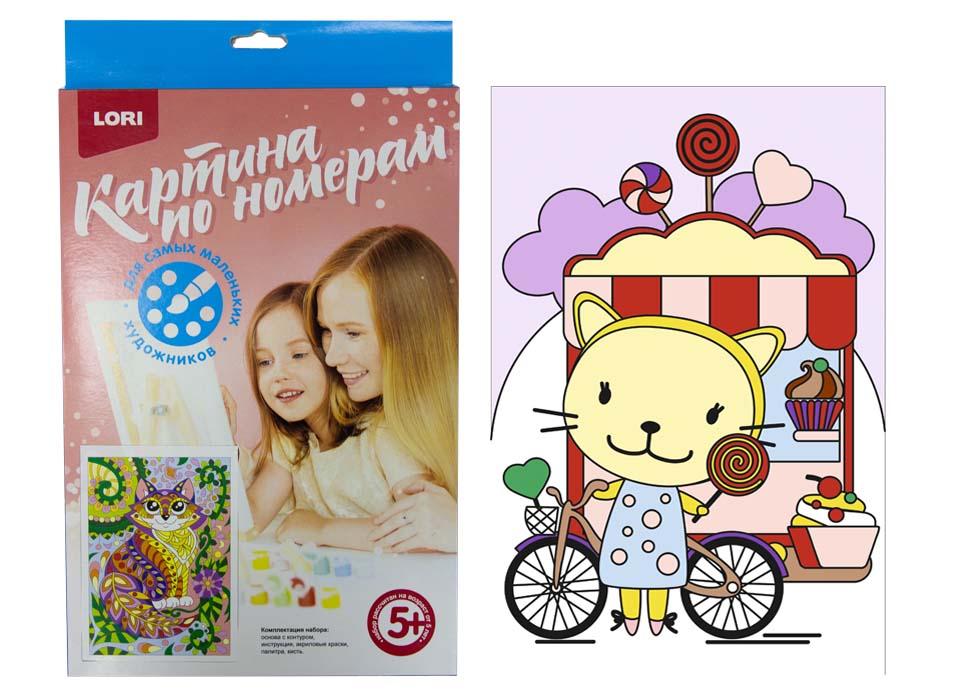 Картина по номерам для малышей - Киска с леденцом